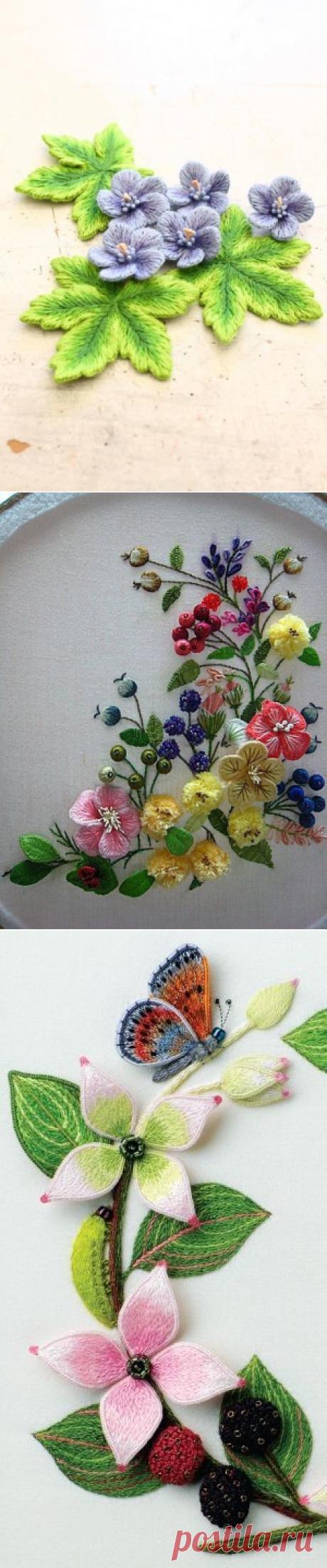 Volume embroidery. Flowers. We enjoy!
