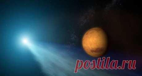 """Марс мог пережить три столкновения с """"зародышами"""" планет Американские планетологи пришли к выводу, что необычные расхождения в химическом составе разных марсианских метеоритов можно объяснить тем, что Марс"""