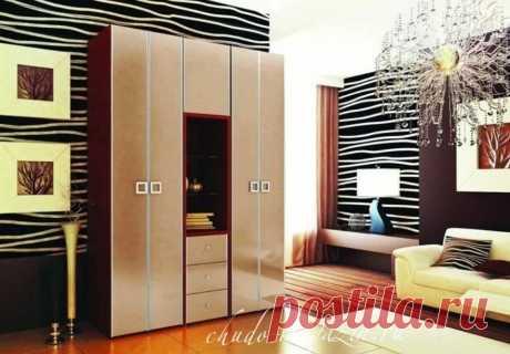 Шкаф распашной 4-х створчатый с выдвижными ящиками