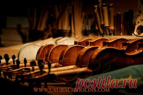Fine Master Violin with an antique cremonese look and old sound - Laubach violin workshop