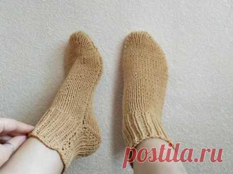 Держи ноги в тепле! Вяжем носочки на двух спицах без шва » «Хомяк55» - всё о вязании спицами и крючком