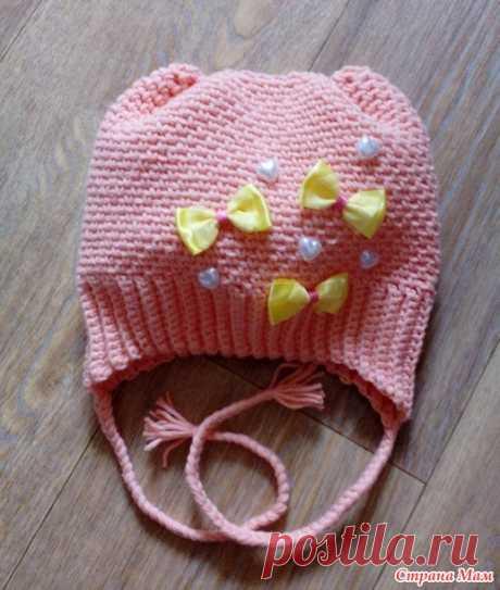 Простая шапка для малышей. МК - Вязание - Страна Мам