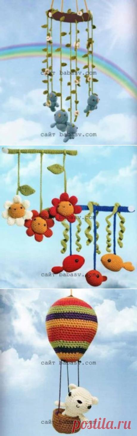 Мобильные игрушки: птицы, рыбки, цветы и медвежонок| Сундучок-хомячок