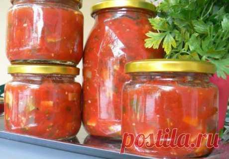 Острая закуска из помидоров на зиму: лучшие рецепты