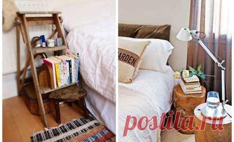 Чем заменить прикроватную тумбочку: 20 стильных идей Спальня может быть не только местом для сна, но и местом для уединения, размышлений, полуночных чаепитий или...