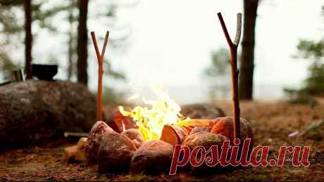 Простой способ добыть огонь на рыбалке и в лесу с помощью обычного пакета (подсказал лесник - опытный егерь)