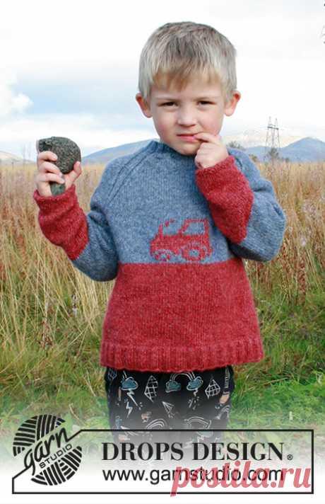 Очаровательный свитер с трактором от Дропс.