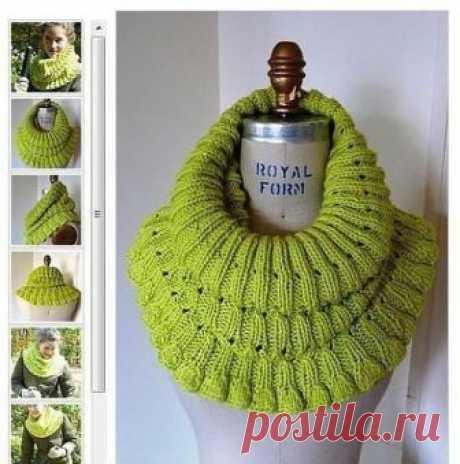 Очень красивый шарф-хомут — Сделай сам, идеи для творчества - DIY Ideas