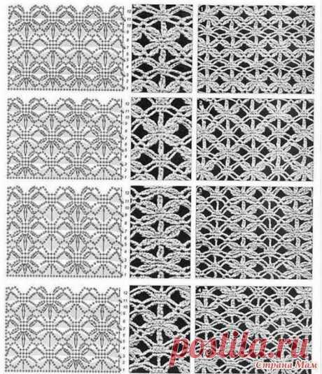 Сетчатое вязание. Схемы