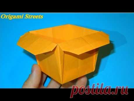 How to make a box of paper. Origami box