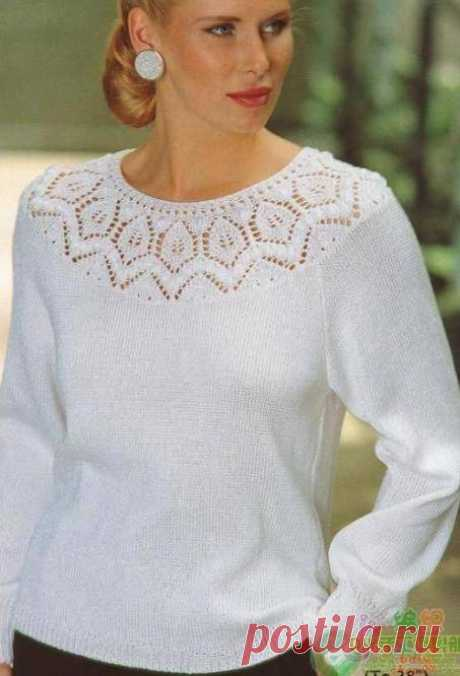 Jumper with the round coquette spokes.