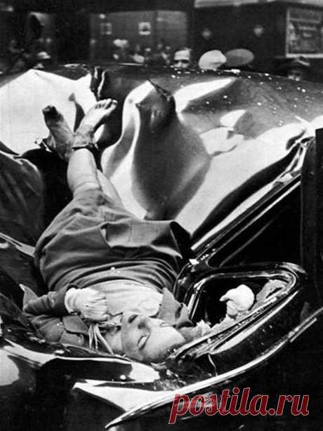 23-летняя Эвелин МакХэйл выпрыгнула с 83-го этажа Эмпайр-Стейт-Билдинг и приземлилась на лимузин одного из сотрудников ООН в 1947 году. Вот и всё.