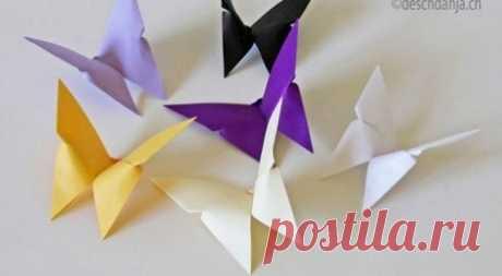 Как сделать потрясающую бабочку-оригами — I Love Hobby — Лучшие мастер-классы со всего мира!