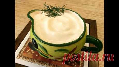 Home-made mayonnaise without eggs in 2 minutes