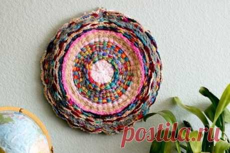 Плетем коврик с помощью обруча — Сделай сам, идеи для творчества - DIY Ideas