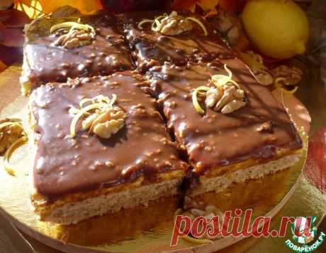 Орехово-лимонные пирожные – кулинарный рецепт