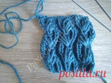 #2 чудный узор спицами/вязание спицами - YouTube