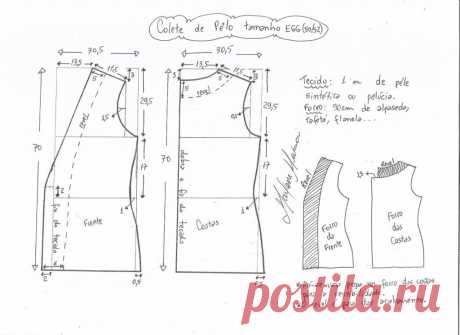 Меховая Жилетка. Выкройка\Размеры 36-56(евро) (Шитье и крой)   Журнал Вдохновение Рукодельницы