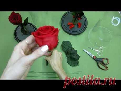 """Как собрать """"розу в колбе"""" самостоятельно / Мастер класс"""