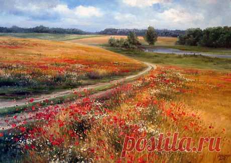 Los paisajes milagrosos de flores de Olga Odalchuk