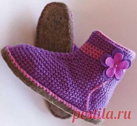 Вязаные сапожки для тех, кто любит комфорт и красоту | Ольга knits спицами и крючком | Яндекс Дзен