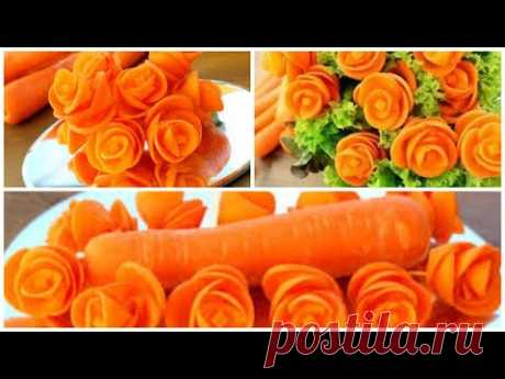 Super Salad Decoration Ideas - Carrot Rose Carving Garnish
