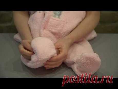 """Комбинезон для новорожденных """"Розовый мишка"""" от 0 до 3 месяцев"""