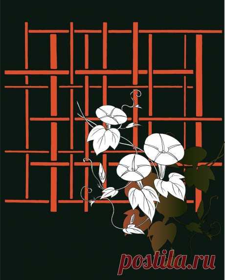 Asagao 1 (картинки для декупажа, для вживления в поталь, подготовлено творческой группой Артель Вольга)