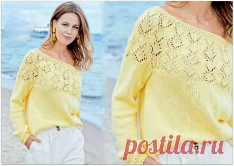 Лимонное настроение: вяжем женские модели спицами в весеннем жёлтом цвете | Paradosik_Handmade | Яндекс Дзен