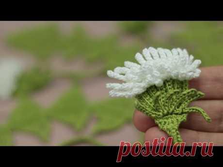 ЦВЕТОК вязание КРЮЧКОМ мастер-класс  How to crochet a flower