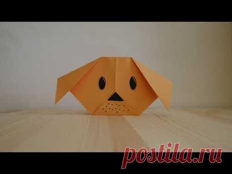 Оригами. Как сделать щенка из бумаги (видео урок) - YouTube