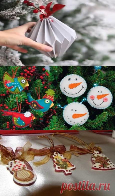 Игрушки на новогоднюю елку из подручных материалов своими руками