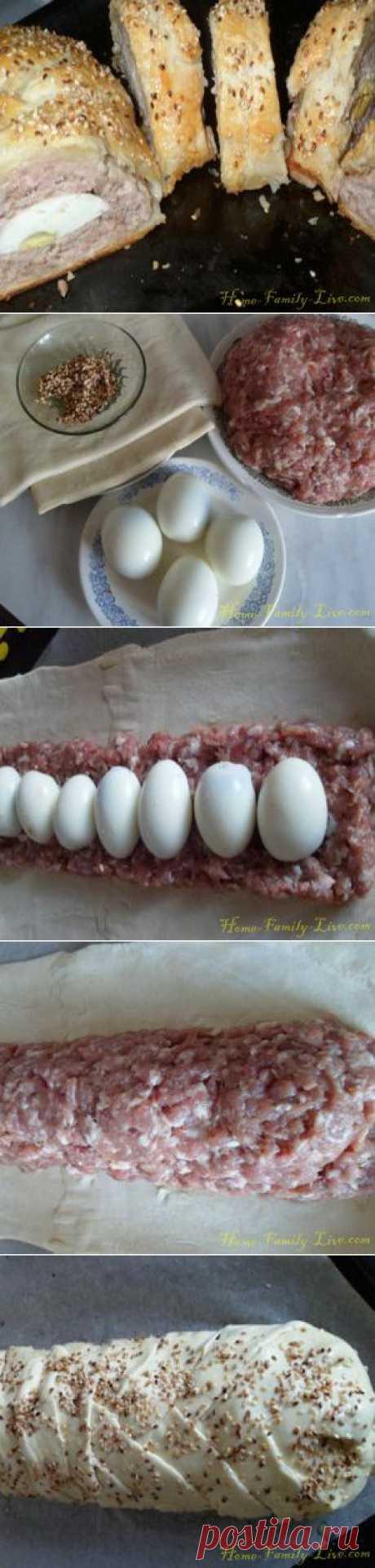 Рулет с мясом - Кулинарные рецепты