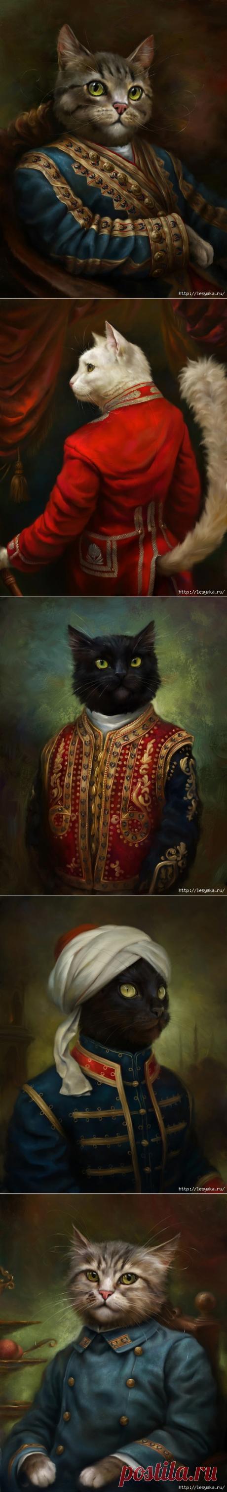 Коты Эрмитажа. Потрясающие открытки Эльдара Закирова