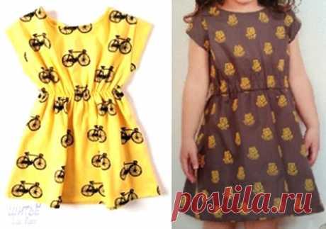 Выкройки – схемы детского летнего платья (Шитье и крой) – Журнал Вдохновение Рукодельницы