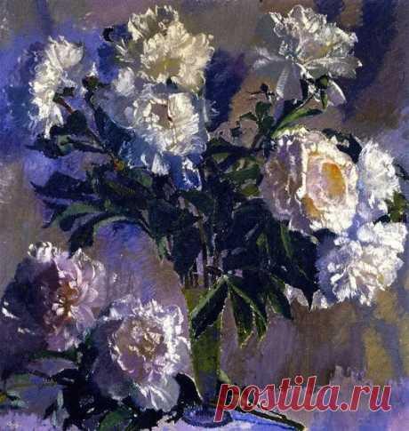 Augusto Giacometti White Peonies 1940
