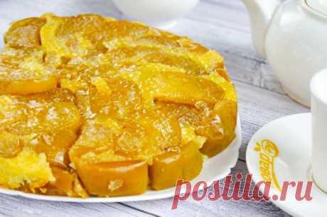 Осенний пирог с золотыми яблоками