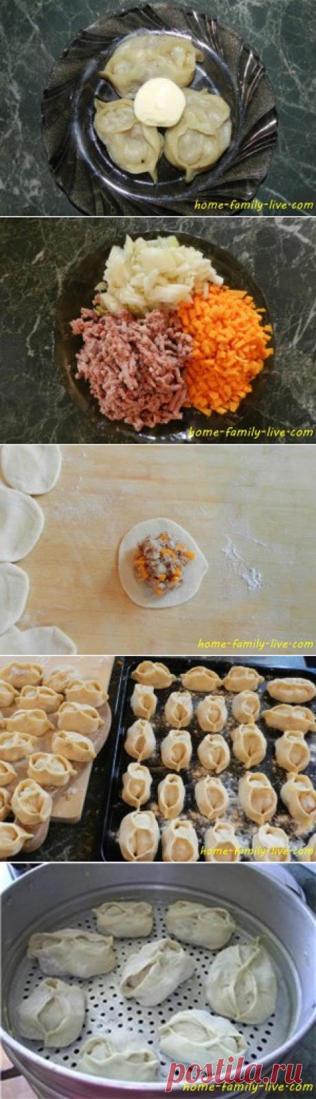 Манты - пошаговый рецепт с подробным фотоКулинарные рецепты