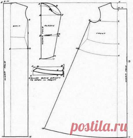 Выкройки ночных сорочек или пижама фото 76