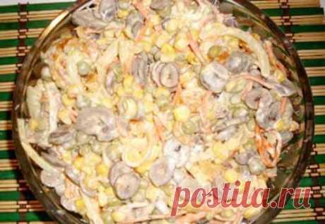 La ensalada con los corazoncitos de gallina y la zanahoria coreana