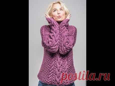 Женский Теплый Пуловер Спицами - 2019 / Women's Warm Pullover Knitting Needles