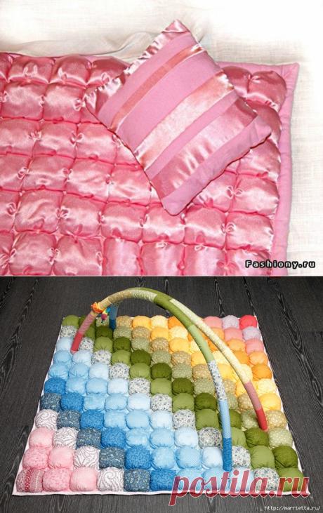 Замечательный мастер-класс по пошиву одеяла и подушки