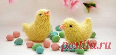 Пасхальный цыпленок спицами, Вязаные игрушки