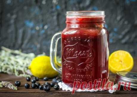 Лимонад с черникой