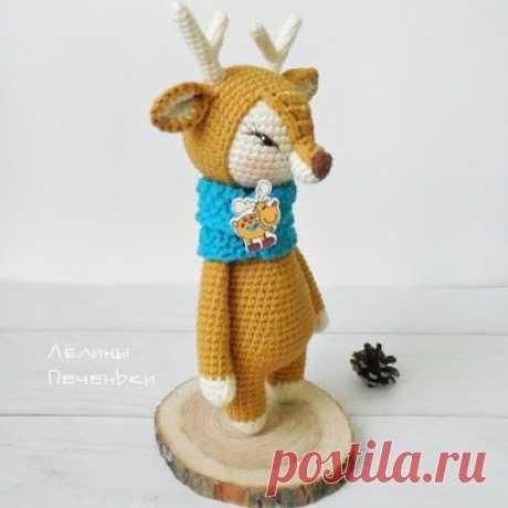 1000 схем амигуруми на русском: Олененок амигуруми
