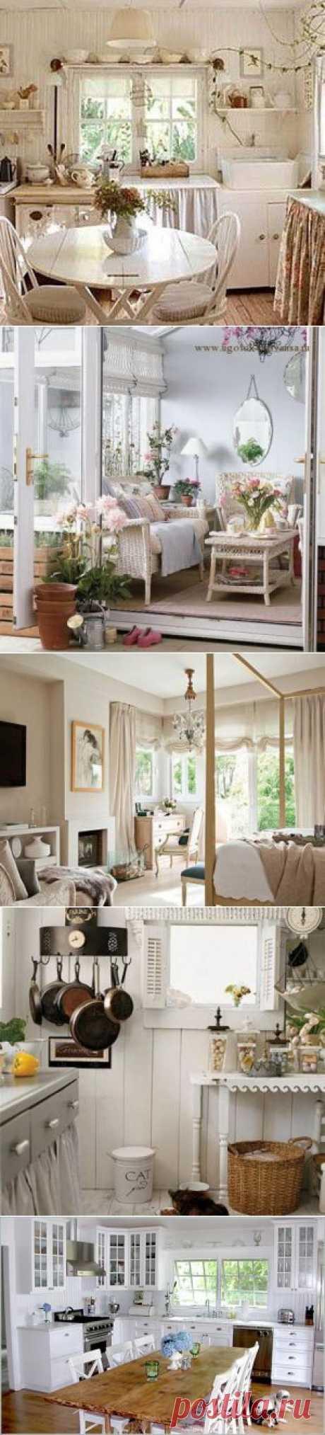 Стиль Прованс в интерьере - фото гостиной, кухни, спальни | семиделка.ру