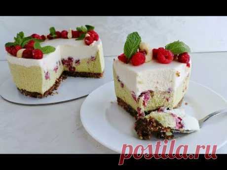 """Летний торт """"Фисташка-малина"""" от победителя конкурса #летнийторт_наринэ"""