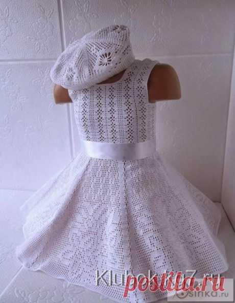 Платье филейным узором   Клубок