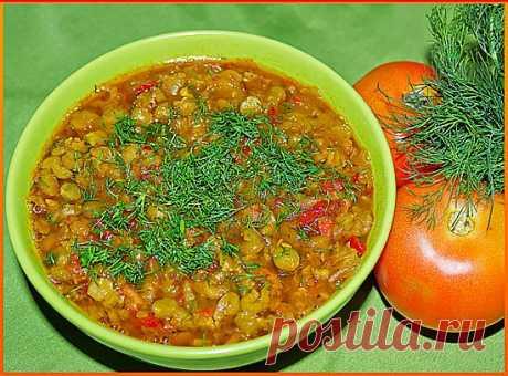 Суп гороховый с карри
