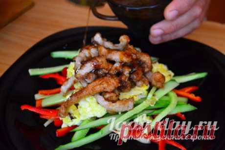 Японский салат, рецепт с мясом | Простые рецепты с фото